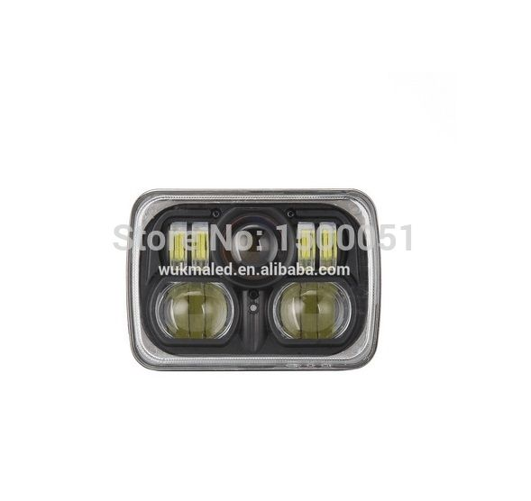 243.00$  Watch now - http://alik2v.worldwells.pw/go.php?t=32610596847 - For Trucks 4x4 Jeep offroad 88W led headlights Wholesale product square led headlights Sealed Beam H4 headlight 243.00$