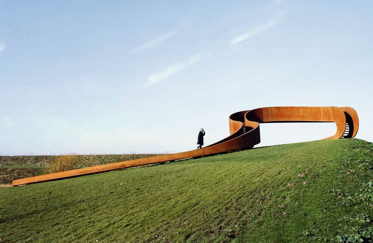 THE ELASTIC PERSPECTIVE, CARNISSELANDE, ROTTERDAM (HOLANDA) / NEXT ARCHITECTS. Un mirador-escalera de acero oxidado para ver Rotterdam (Hola...