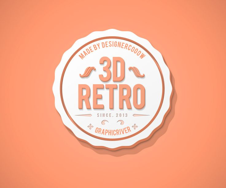 New 3D Retro Creator  14 PSD files with examples and different 3D styles (check out the screenshots) All 3D styles are made in SMART OBJECTS – very easy to change the tekst, font and size 10 differ...