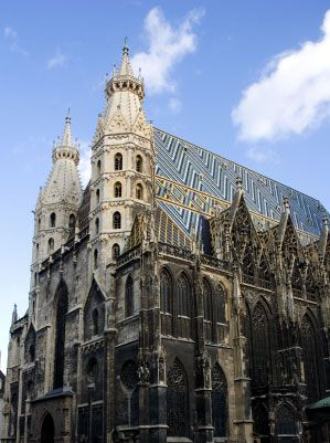 St. Stephen's Cathedral, Vienna. This is where Mozart's funeral was held.