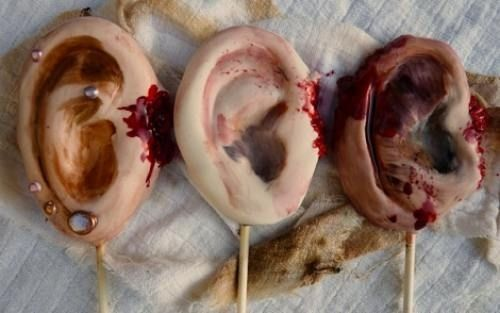 Severed Ears Cookies | The Ultimate Collection Of Creepy, Gross And Ghoulish Halloween Recipes