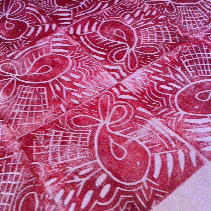 #dyeandprints Learn how to make your own hand carved stamps for printing...