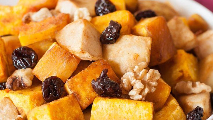 Roasted Butternut Squash with Apples, Tart Cherries and Walnuts - California Walnuts