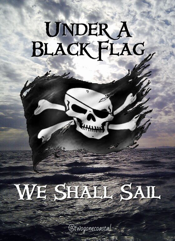 "Pirates: #Pirates ~ ""Under a Black Flag, We Shall Sail."" Aka Jolly Roger! More"