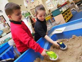 metal detectors in the sand tray #abcdoes #eyfs #earlyyearseducation #earlyyearsteaching #preschoolideas