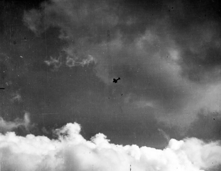"""""""Japanese Navy Type 99 Carrier Bomber (Val) drops a 250 kilogram bomb during the attack."""" CV-16"""