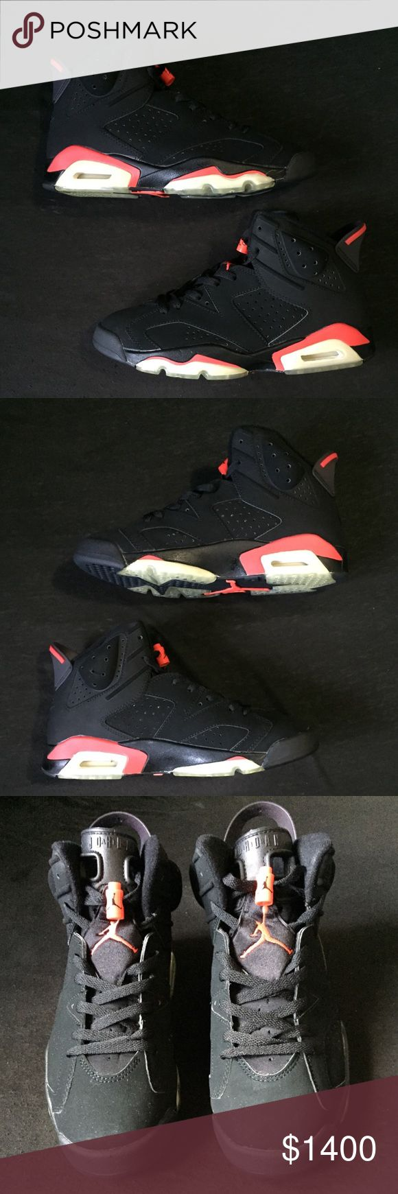 2000 Nike Air Jordan 6 Infrared Mens Sz 8.5 Nike Air Jordan 6 Retro Infrared Rare and hard to find  Year 2000 release  Size: Mens US 8.5  Includes: Original box, Lace locks, Retro card  Condition: Brand New Deadstock  (w/ midsole hairline cracked)  100% AUTHENTIC Jordan Shoes