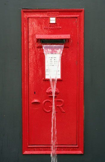 Flickr Find:  Old Post Box Repurposed Into A Water Feature