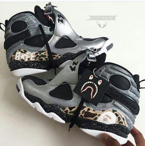 Air Jordan (Retro) 8 Platinum Bape