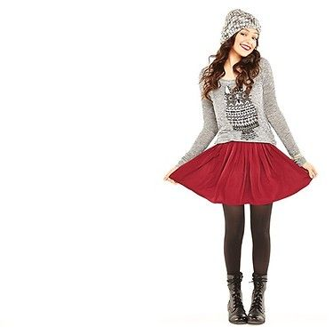 Love Bethany Mota's Aeropostale outfit in this photo! Especially the owl top! Maybe the top for Christmas?? :)