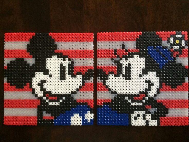 Disney Perler Beads: 4th of July Mickey and Minnie made by Daniel Nasiatka