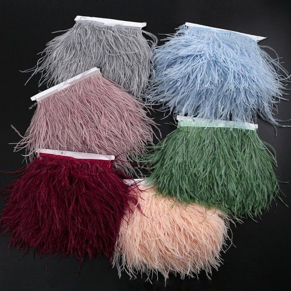 Millinery Crafts Costumes Decoration, natural Ostrich hair feather trim,Ostrich Feather Trimming Fri