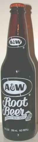 Vintage A&W root beer bottle