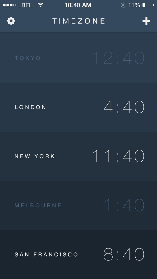 Timezone App for iOS7