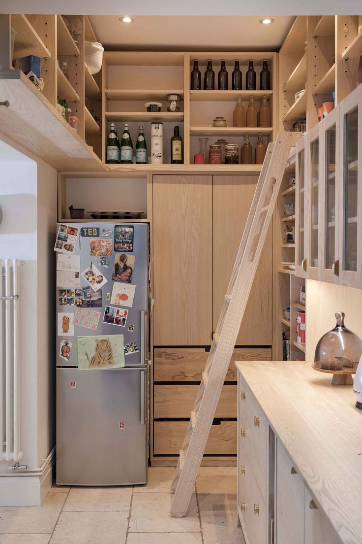 Charming Bespoke Deli Style Shelving Fills A Large Part Of The Kitchen With Our  Custom Ladder And