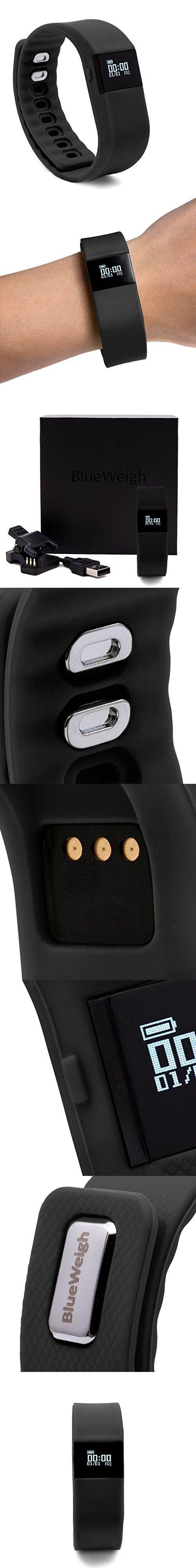 BLUEWEIGH Bluetooth 4.0 Fitness Activity Tracker, Wireless Activity Wristband - Pedometer, Black