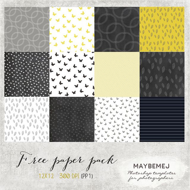 Free Digital Paper pack by maybe*mej, via Flickr plus more digital freebies!