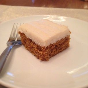 Pumpkin Bars with Homemade Cinnamon Twist with Honey Cream Cheese Frosting