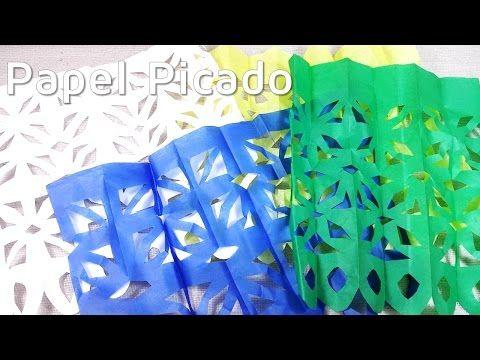 Cómo hacer papel picado para el Día de Muertos | facilisimo.com - YouTube