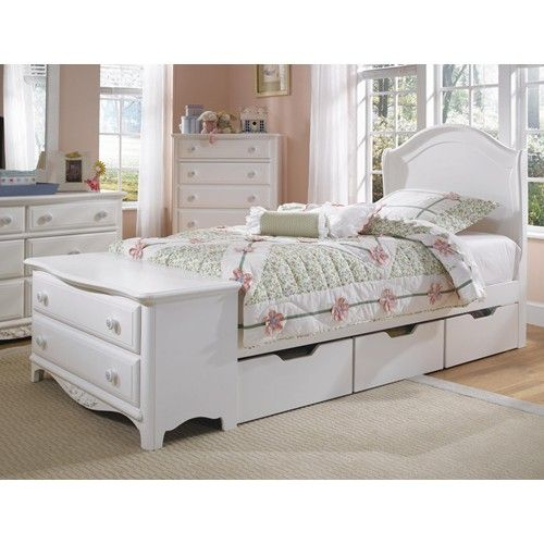 platform bed with footboard | Lea Industries Haley Twin Platform Bed with Dresser Footboard and ...