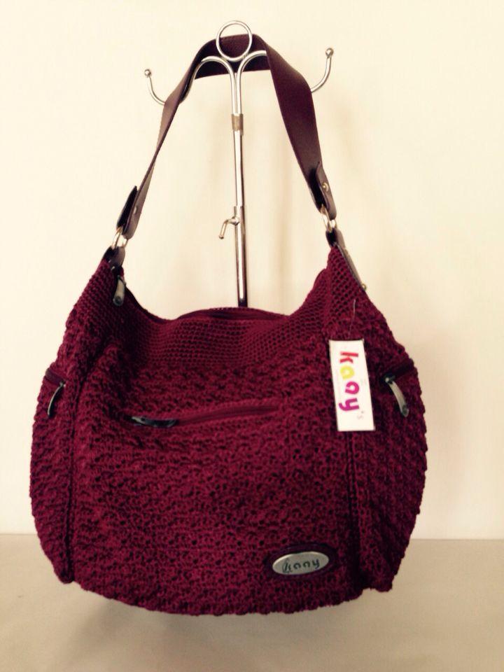 Pocket 3 Burgundy // Ukuran: 48x30x14cm // IDR: Rp 295.000  #katalog #tasrajut