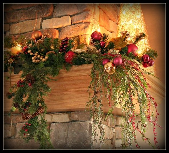 Decorated Fireplace Mantels For Christmas Christmas