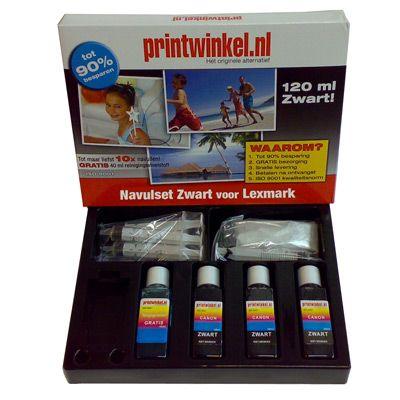Met de Lexmark Navulset Zwart kunt u met gemak uw cartridges 8 tot 10x navullen! De inkt is onder de strengste normen geproduceerd en heeft een ISO 9001 certificaat.