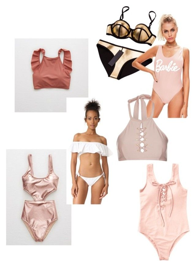 """Summer Swimsuits"" by valerie-sofia-delgado on Polyvore featuring moda, Aerie, L*Space y Topshop"