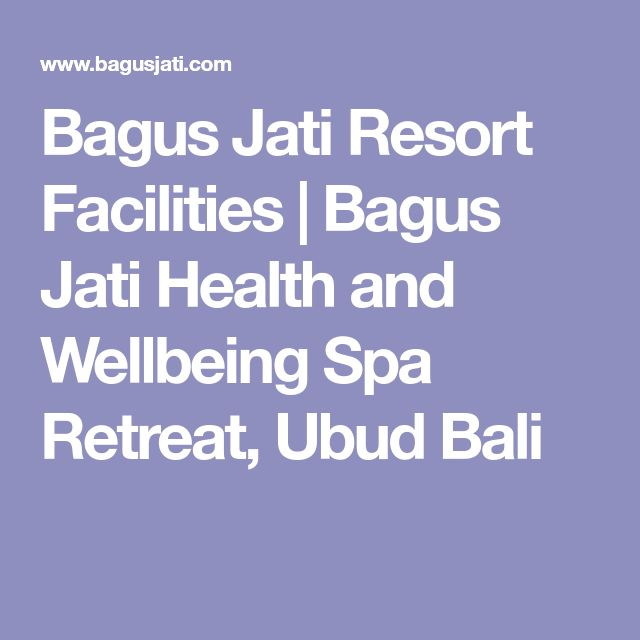 Bagus Jati Resort Facilities   Bagus Jati Health and Wellbeing Spa Retreat, Ubud Bali