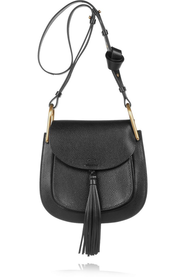 chole handbags - Chlo�� | Hudson medium tasseled textured-leather shoulder bag | NET ...