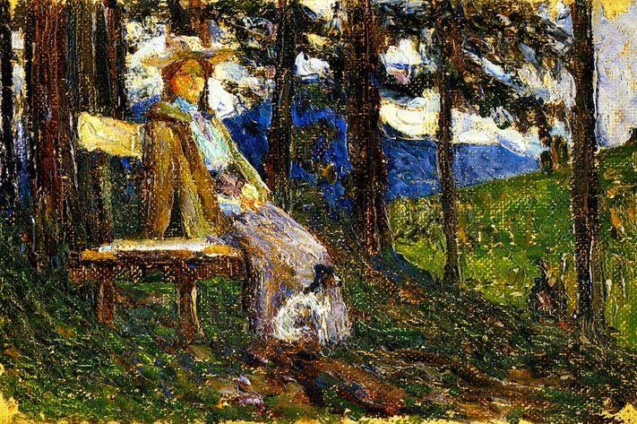 Wassily Kandinsky. Kochel - Anja and Daisy. 1902
