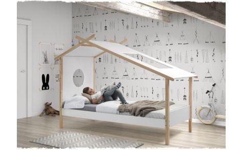 TIPI BED WIT HOUT WOOD - Kinderbed,Tentbed, Hutbed | De Boomhut