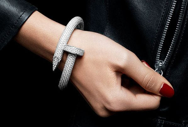 Punk Nail white gold bracelet with diamond by Cartier ...