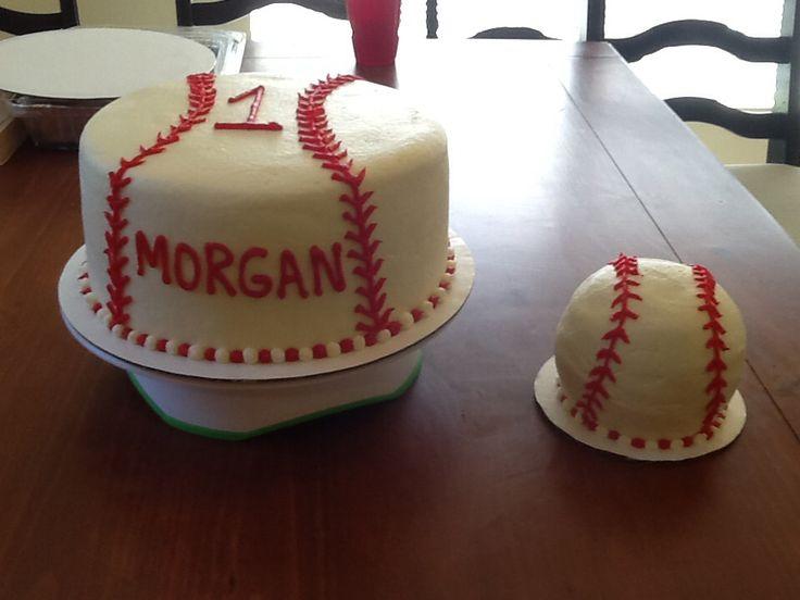 1st birthday baseball cake I made