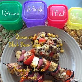 Pineapple Chicken Skewers! 21 Day Fix recipe from the 21 Day Fix cookbook, FIXATE! Gluten Free, Dairy Free, Egg Free, and Sugar Free, AND YUM!!
