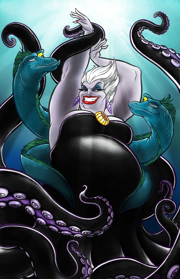 The Sea Witch who can offer irresistible deals for a small price, your very soul- Ursula