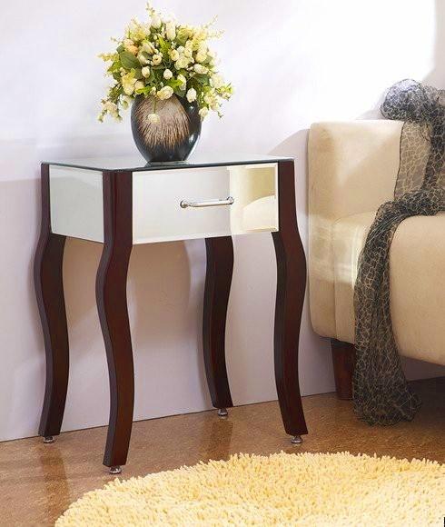 French Provincial Mirror Night Table  #furniturehire #brisbane #mirror #mirrorfurniture #australia http://www.epicempire.com.au/mirroredfurniture/