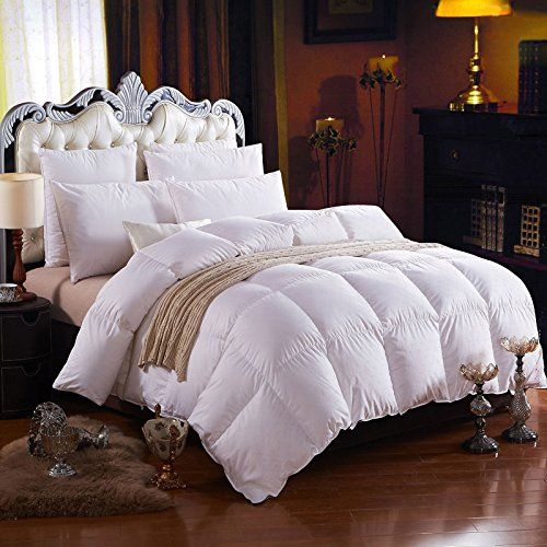 luxurious queen size 700 thread count white goose down comforter 750 fill power 50 oz fill weight egptian cotton baffle box design - Down Comforter Queen