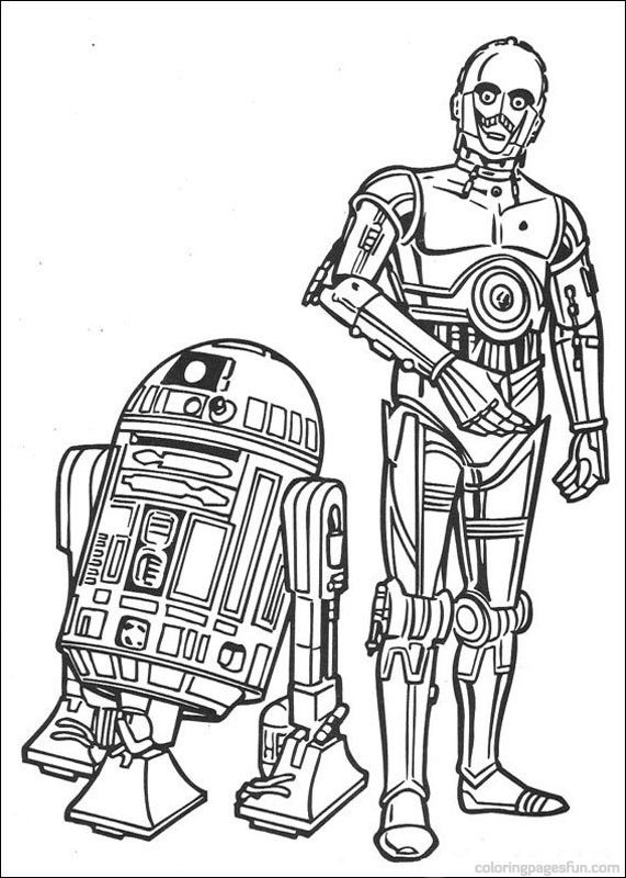 star wars r2d2 and c3po Colouring