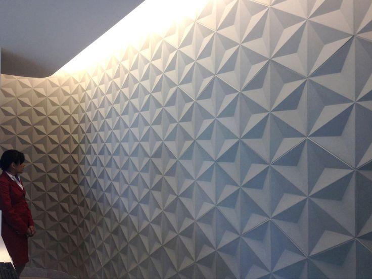 Wall tile / concrete / geometric patterned / 3-D - JAPANESE GEO - Daniel Ogassian
