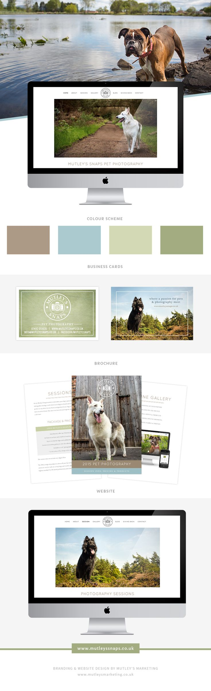 Mutley's Snaps Pet Photography Branding & Website Design by Mutley's Marketing | Design Services for Pet Businesses