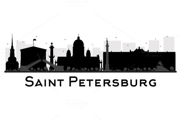 Saint Petersburg City skyline  by@Graphicsauthor