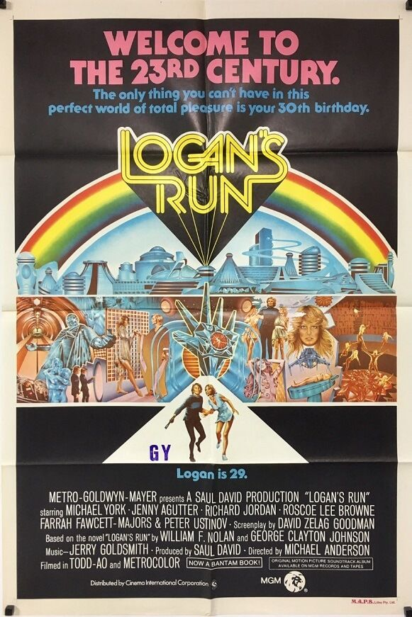 Logan/'s run Michael York cult sci fi movie poster