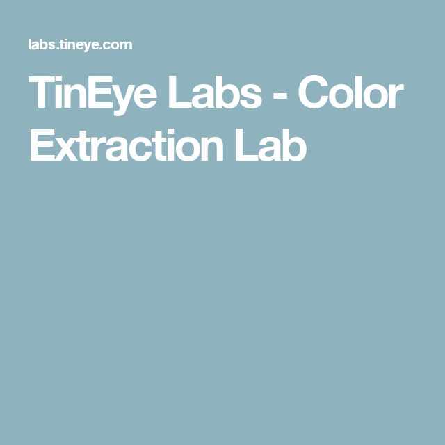 TinEye Labs - Color Extraction Lab