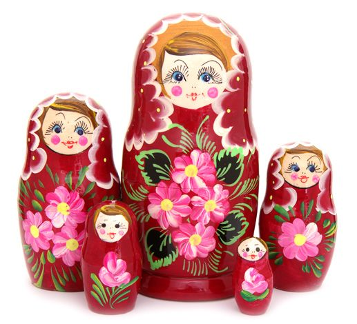 Russian hand-painted matryoshka