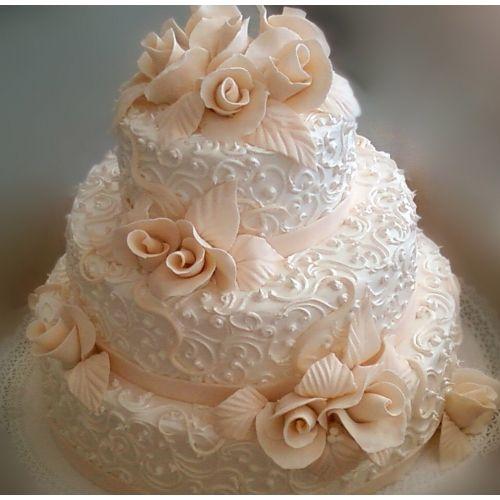 свадебный торт с кремом фото