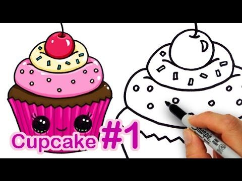 How to Draw a Cartoon Birthday Celebration Cake Cute and Easy - YouTube