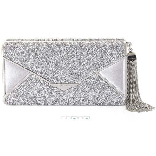Bcbg Maxazria Slone Silver Rock Crystal Envelop Clutch ($190) ❤ liked on Polyvore featuring bags, handbags, clutches, silver, silver envelope clutch, bcbgmaxazria handbags, tassel handbag, envelope clutch bag and chain strap purse