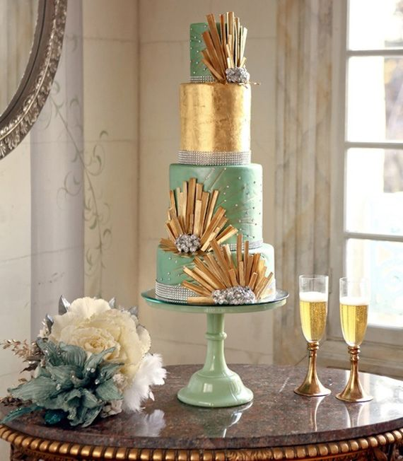 81 best wedding cakes and cheese tower mount soho venue for Art deco wedding decoration ideas