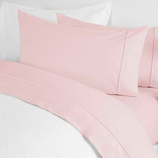 Cotton Flannelette Sheet Set - Pink